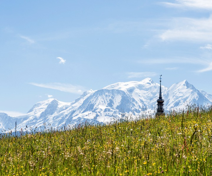 Combloux face au Mont Blanc
